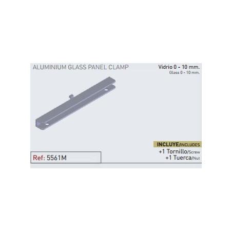 Cartela aluminio para vidrio