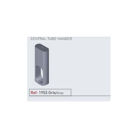 Soporte central aluminio gris