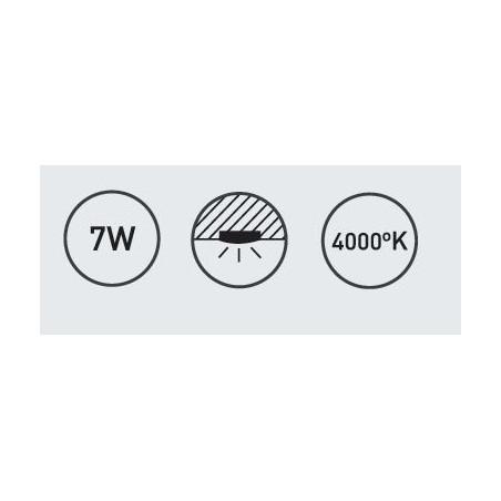 LUMINARIA LOW SEMI-EMPOTRABE (directo corriente)