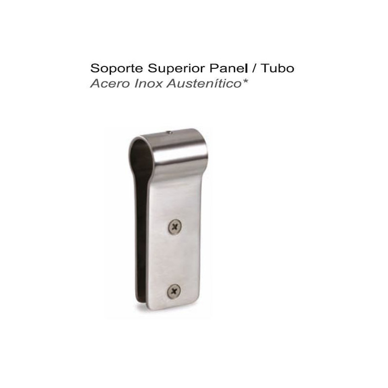 SOPORTE SUPERIOR DE PANEL A TUBO A/INOX