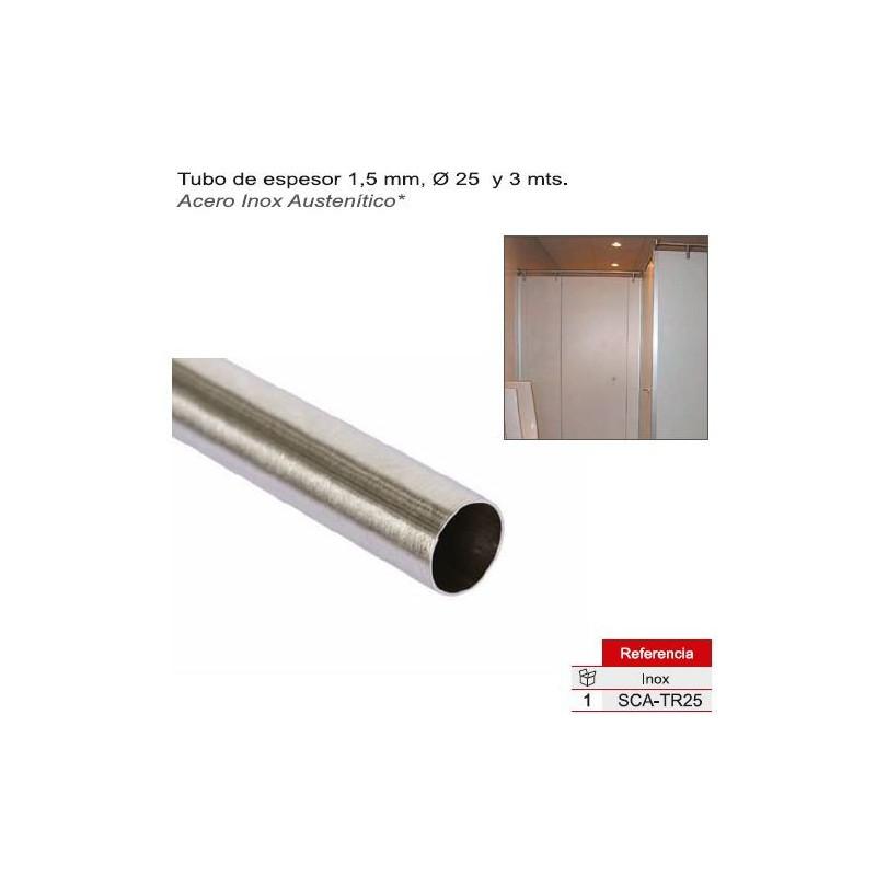 TUBO REDONDO D-25  3mts  A/INOX