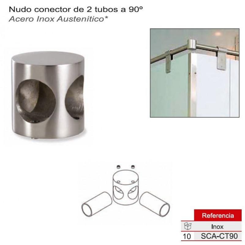 CONECTOR DE TUBO A 90º  A/INOX