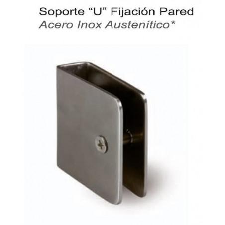 SOPRTE (U) FIJACION PARED 1,8m A/INOX