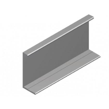 Tirador Aluminio Superpuesto  37x16 (5,2m) Plata mate €/ml