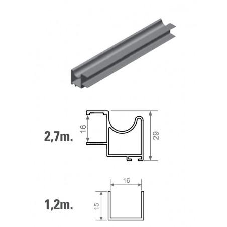 Kit de herrajes para tablero de 16mm con tirador FO