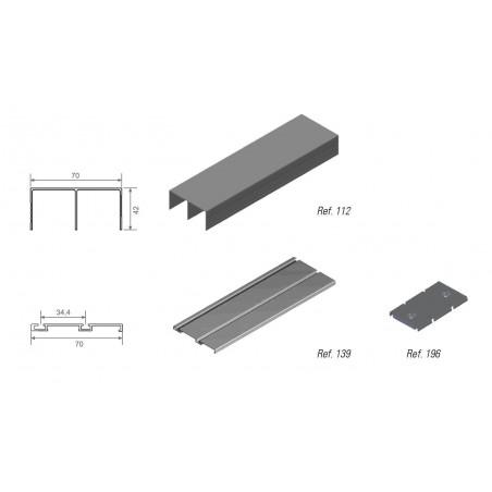 Kit de Guías para armario Adinor GSO-GI70