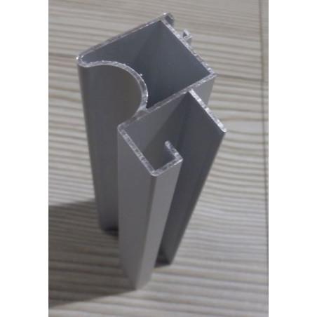 Tirador de puerta de armario Fo 10 mm plata mate