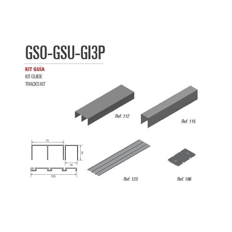 Kit De Guías GSO-GI3P rueda Quilla