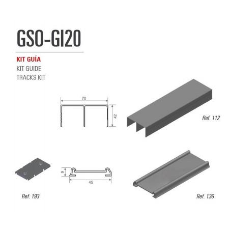 Kit de Guías para armario Adinor GSO-GI2O