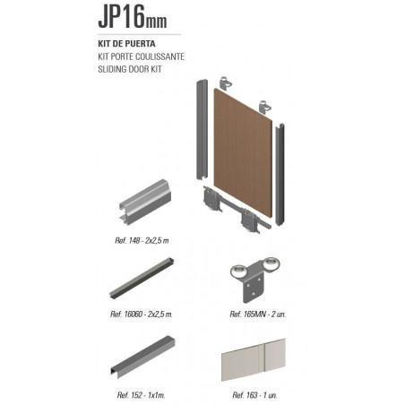 Kit de herrajes para tablero de 16mm con tirador JP