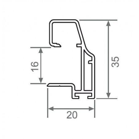 Kit de herrajes para tablero de 16mm con tirador JP medidas