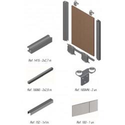 Kit de herrajes para tablero de 19mm con tirador RT