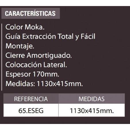 ESPEJO EXTRAIBLE GIRATORIO CON COMPARTIMENTOS 1130x415mm