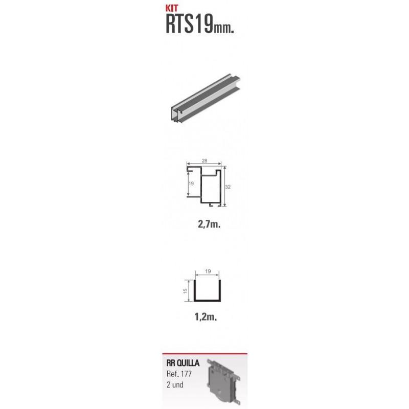Kit de herrajes para tablero de 19mm con tirador RT para nueva serie 80