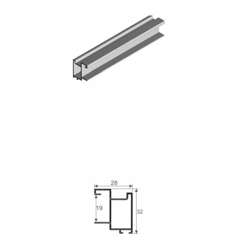 Kit de herrajes para puerta de 19 mm de tablero Tirador RTS