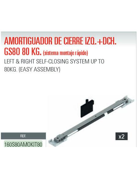 SISTEMA MONTAJE RAPIDO AMORTIGUADOR (GSO/GSU) CIERRE 80Kg  DCH + IZQ