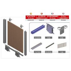 Kit de puerta FO 10mm RR Quilla acabado lacado Blanco
