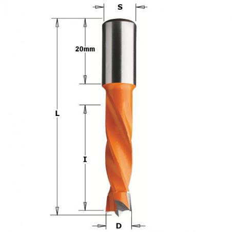 Broca Ciega Para Taladradoras HM D5X57.5 S10X20 SX