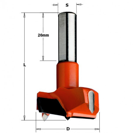 Broca X Bisagras HM D25X57.5 S10X26 SX