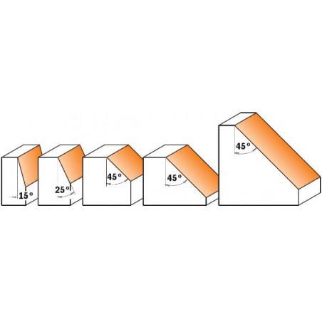 Fresa Para Biselar CRodam. 45 HM S8 D45