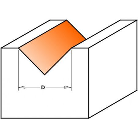 Fresa Para Letras 60 HM S8 D13X11 Z3