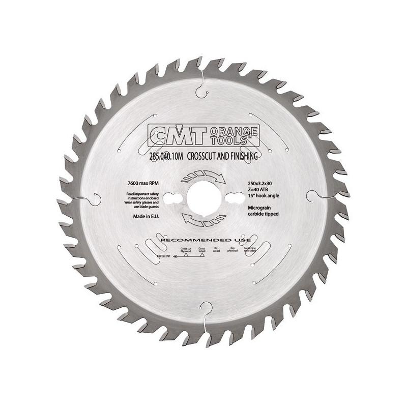 Sierra Circular 250X3.2X30 Z40 ATB 10 silenciosa