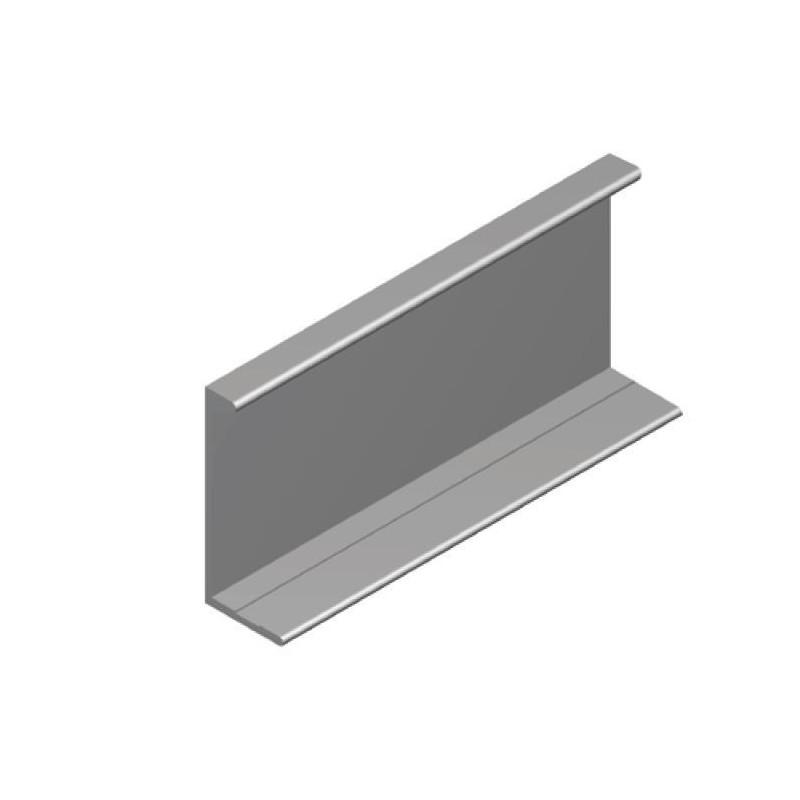 Tirador Alumino Superpuesto 37x16x150mm Plata brillo