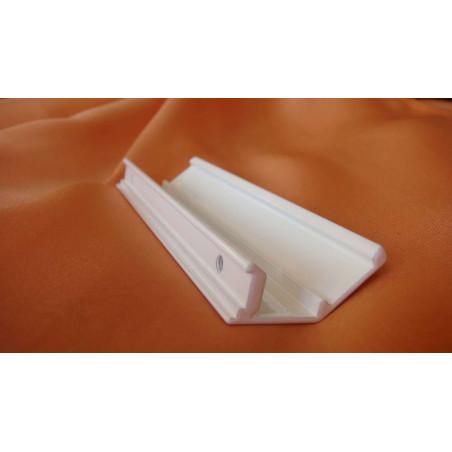 Tirador Alum. para Embutir al Canto 35x126 Lacado Blanco €/ud