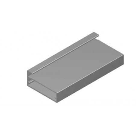 Perfil Aluminio 20x45 P8 Anodizado Plata Mate €/ml