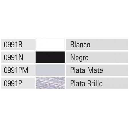 Perfil Aluminio 20x45 P8 Lacado Negro Brillo  €/ml