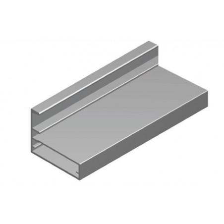 Perfil Aluminio 35x45 P8 Lacado Negro Brillo €/ml