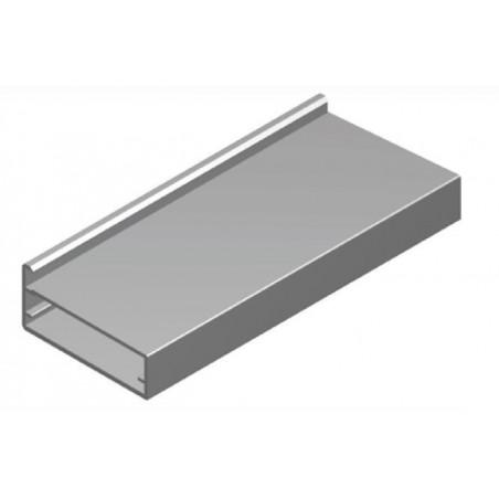 Perfil Aluminio 20x45 P4 Anodizado Plata Brillo €/ml