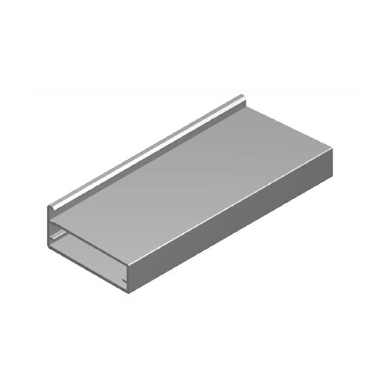 Perfil Aluminio 20x45 P4 Lacado Negro Brillo €/ml
