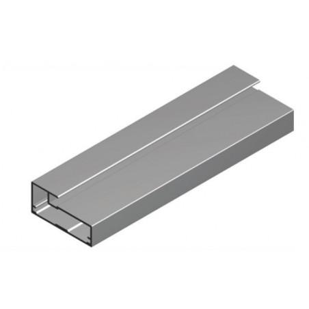 Perfil Aluminio 20x45 P20 Anodizado Plata Mate €/ml