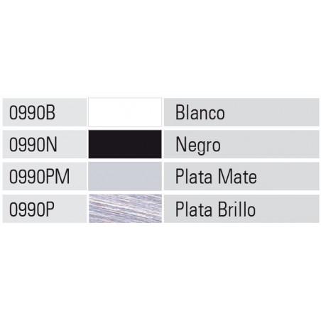 Perfil Alumimio 20x45 P20 Lacado Negro Brillo €/ml