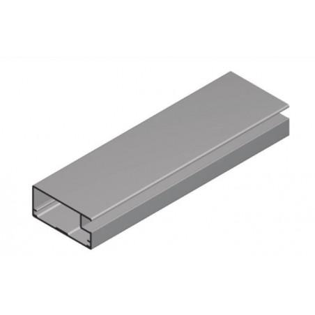 Perfil Aluminio 20x45 P45 Lacado Negro Brillo €/ml