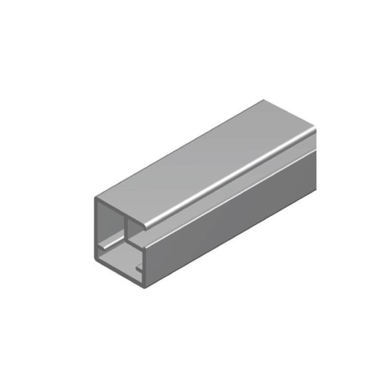 Perfil Aluminio 19x21 Anodizado Plata Mate €/ml