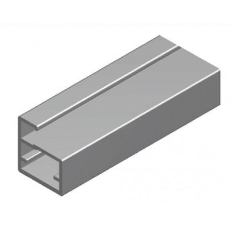 Perfil Aluminio 20x18 P8 Anodizado Plata Mate €/ml