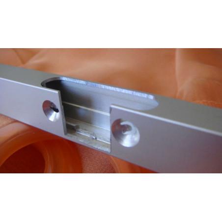 Perfil Aluminio 20x18 P8 Anodizado Plata Brillo €/ml