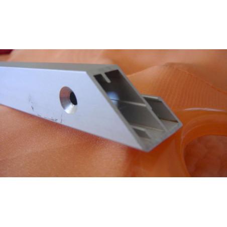 Perfil Aluminio 20x18 P8 Lacado Negro Brillo €/ml