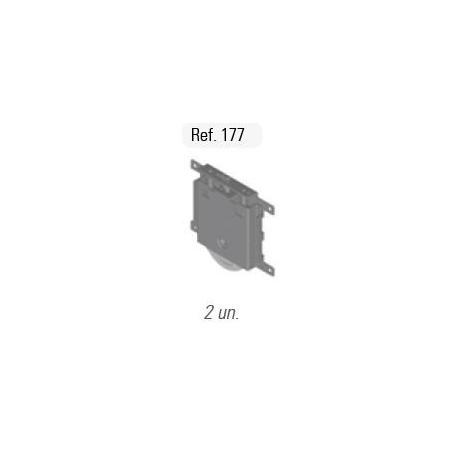 Kit Puerta Minimalista 16mm con rueda Quilla Lacado Negro