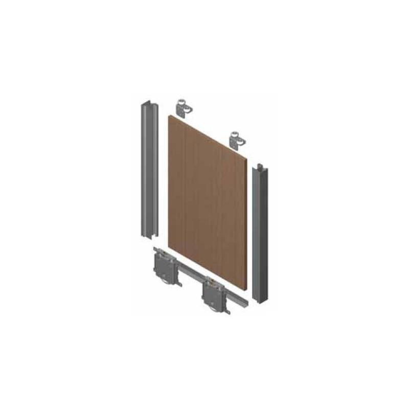 Kit de puerta Curvo rueda Quilla Anodizado Plata Brillo