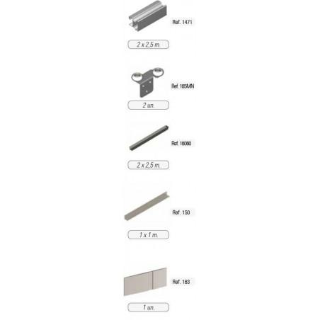 Kit de puerta Curvo para rueda RD Lacado Negro €/ud
