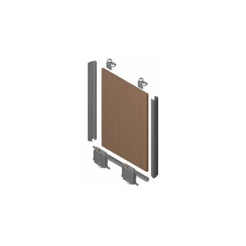 Kit de puerta JP 16mm  para rueda RD. Anod. Plata Brillo €/ud