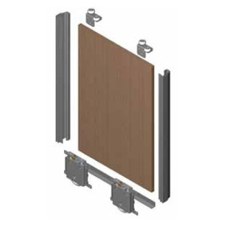Kit de puerta JP 16mm  para rueda RD. Anod. Plata Mate €/ud