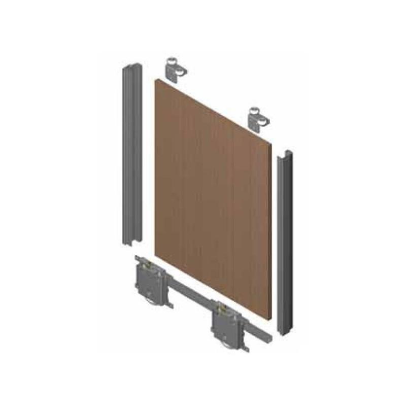 Kit de puerta JP 19mm  para rueda RD. Anod. Plata Brillo €/ud